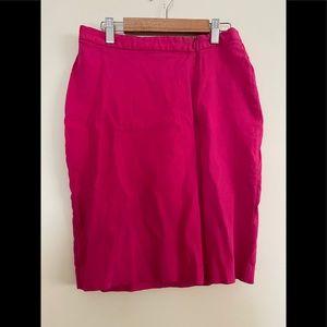 Express |Pink Zipper Front Pencil Skirt Sz 3/4